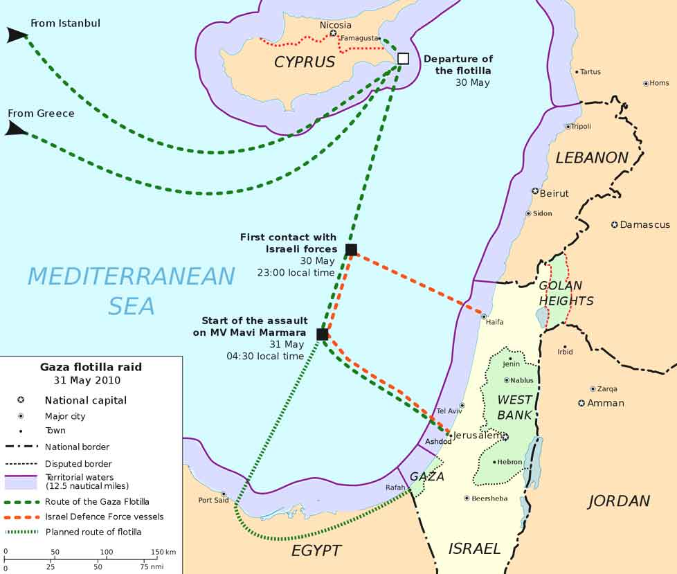 Freedom Flotilla One Route